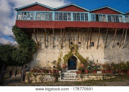 Image Of The Monastery On Lake Doxa