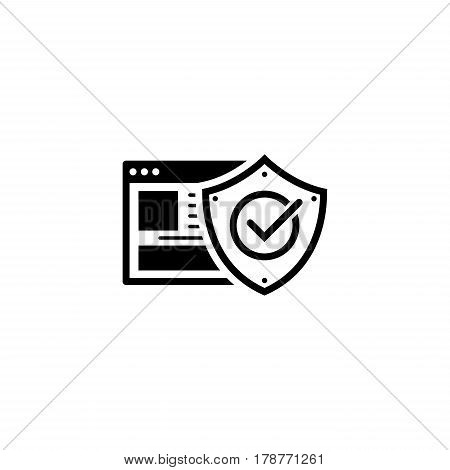Online Protection Icon. Flat Design. Business Concept Isolated Illustration.