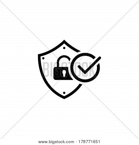 Security Status Icon. Flat Design. Business Concept Isolated Illustration.