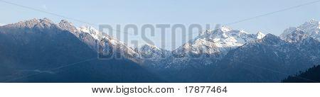 Langtang mountains panorama