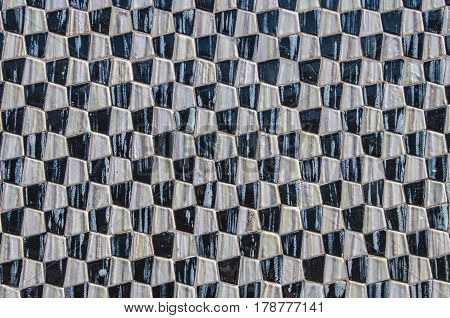 Abstract Background Made With Geometric Shapes In Azulejos