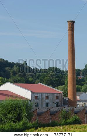 Chimney On An Old Industrial Factory