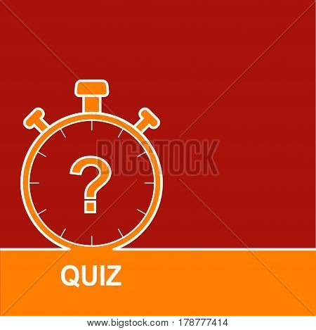 Stopwatch with a question.  The concept is the question with the answer. Icon for mobile applications. Quiz with question marks sign icon. Questions and answers game symbol.