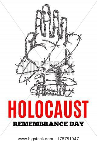 Holocaust Remembrance Day. Concentration Camps. Vector illustration