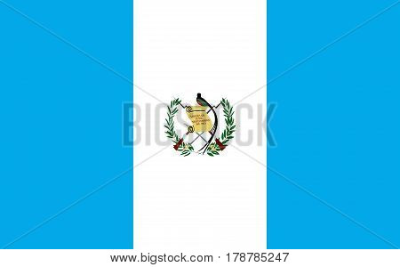 flat guatemala flag in the colors white and blue