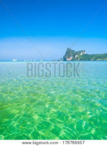 Seascape Azure Sea Scene