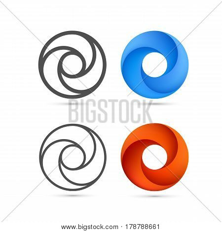 Set of abstract Infinite loop template. Vector Illustration