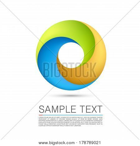 Abstract Infinite loop sign art. Vector Illustration