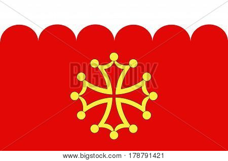 Flag of Gard is a department in southern France in the Occitanie region