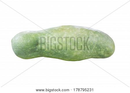 Squash (vegetable marrow) isolated on white background.