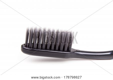 Closeup Of Toothbrush Charcoal Soft And Slim Tapered Bristle