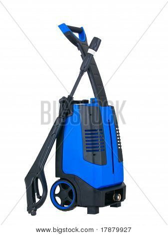 Blue Pressure Portable Washer Side View