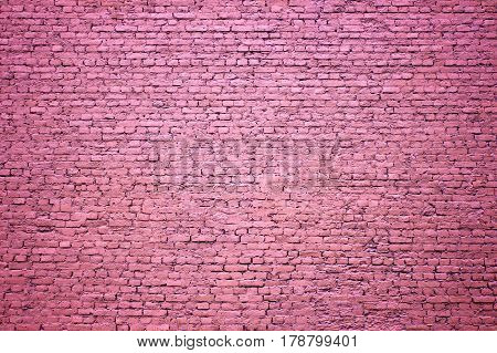 Purple Brick Wall As A Background For Design