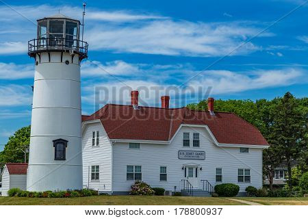 Chatham Lighthouse known as Twin Lights prior to 1923 is a lighthouse in Chatham Massachusetts near the