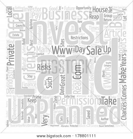 Land For Sale UK text background word cloud concept