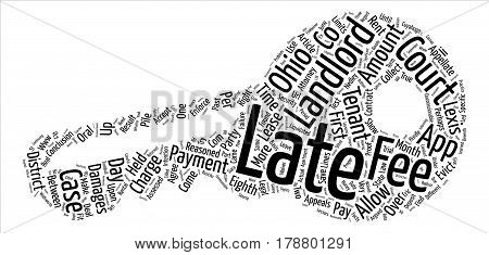Landlord s Corner Late Fees in Ohio text background word cloud concept