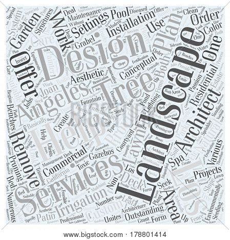 Landscape architect Los Angeles Word Cloud Concept
