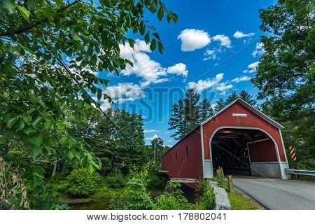The Sawyers Crossing Covered Bridge also known as the Cresson Bridge is a wooden covered bridge carrying Sawyers Crossing Road over the Ashuelot River in northern Swanzey New Hampshire.