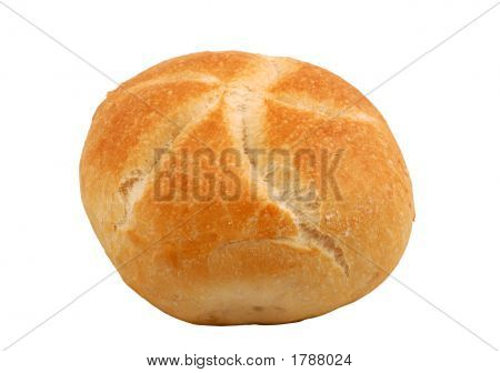 Bread Roll, Isolated Over White
