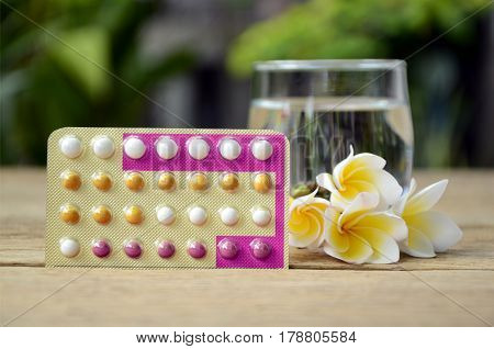 Oral Contraceptive Pill Education Wth Triphasic Pills.