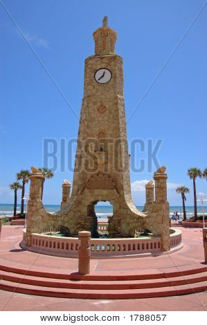 Stone Tower With Clock