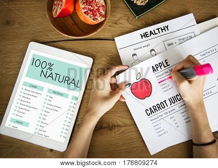 Healthy diet eating analysis nutrition