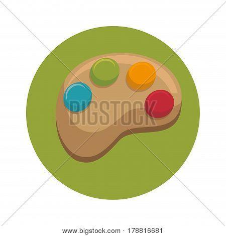 pallete paint isolated icon vector illustration design
