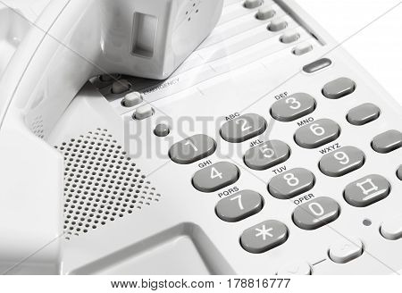 Landline Telephone And Receiver
