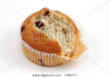 Muffin Isolated Over White