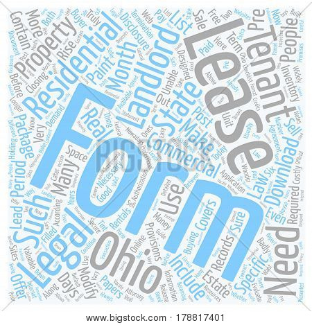 Legal forms for landlords in Ohio text background wordcloud concept