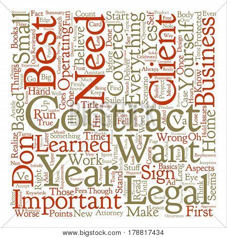 Legalities Contracts The Not So Fun Stuff Word Cloud Concept Text Background