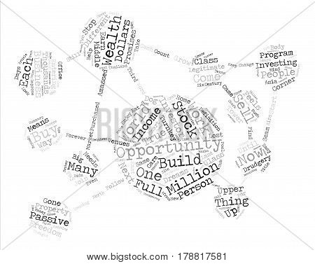 Legitimate Passive Income Venues text background word cloud concept