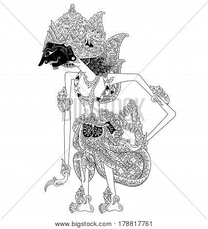 Basupati, a character of traditional puppet show, wayang kulit from java indonesia.