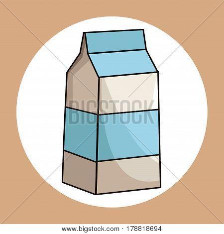 milk box healthy fresh image vector illustration eps 10