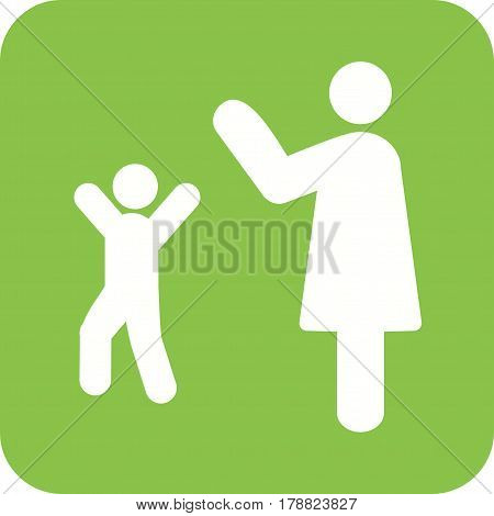 Waving, goodbye, kids icon vector image. Can also be used for city lifestyle. Suitable for use on web apps, mobile apps and print media.