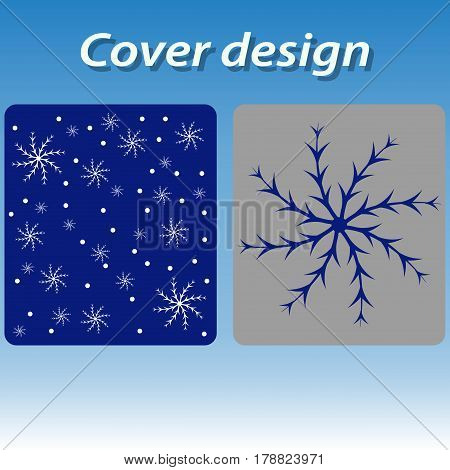 blue christmas design holiday new pattern seamless snow snowflake.