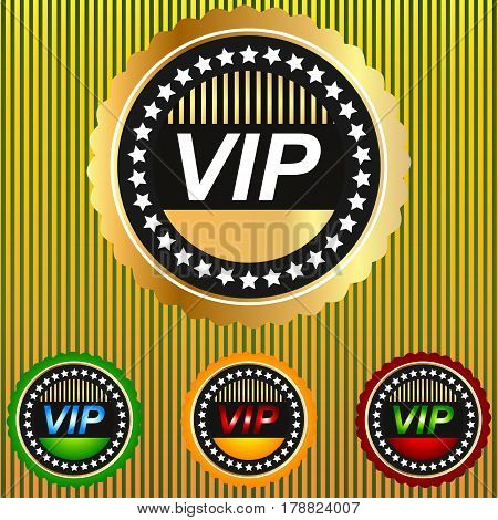 Vip banner card club exclusive glamour gold golden insignia luxury.