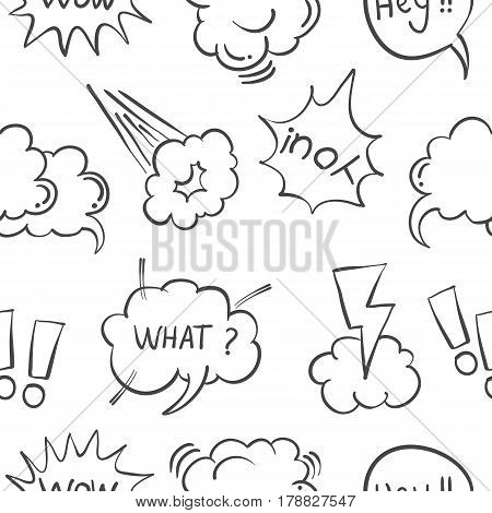 Hand draw text balloon collection stock vector art