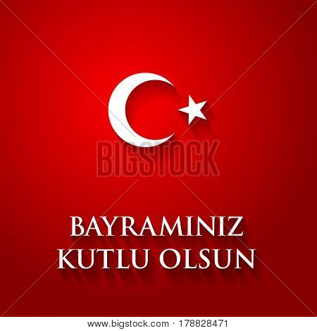 Turkey Flag Color Vector Illustration With