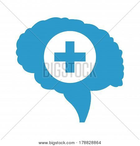 human brain organ healthcare vector illustration eps 10