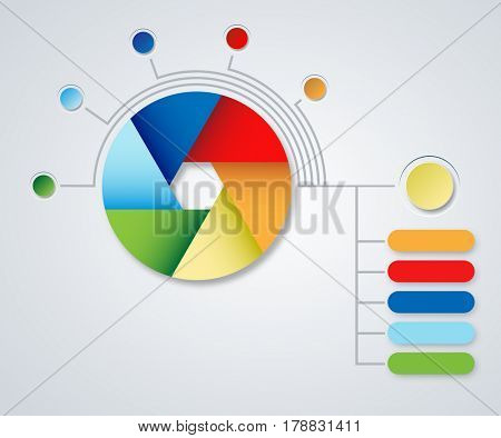 Business options. Marketing. Concept Infographics icons for layout, diagram, annual report, web design.  Illustration