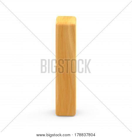 Wooden Grain Letter I