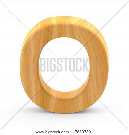 Wooden Grain Letter O