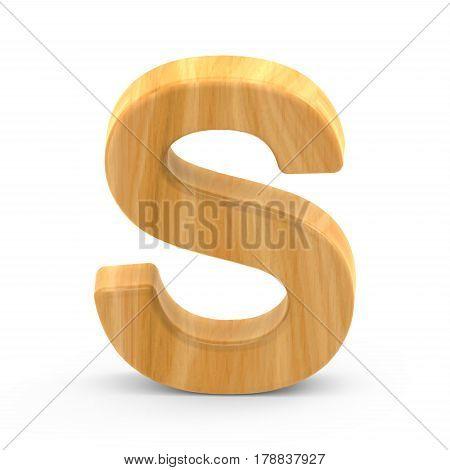 Wooden Grain Letter S