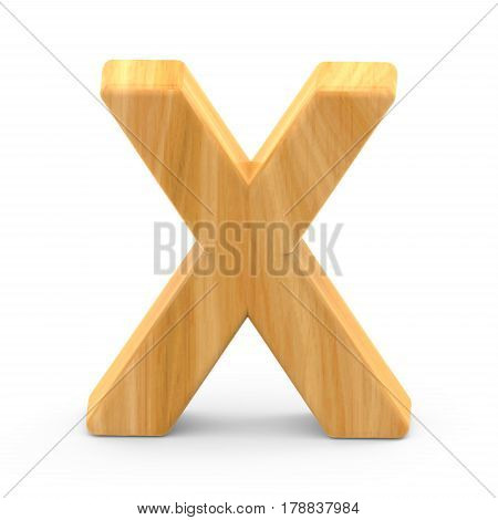Wooden Grain Letter X