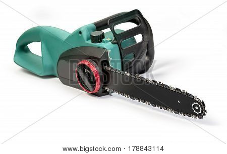 the electric saw isolated on white background
