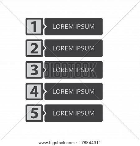 Infographic design template. 5 steps. Vector illustration.