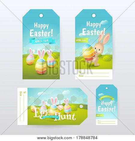Vector set of Gift Tags with title