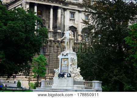 Statue of Mozart in Vienna - Austria