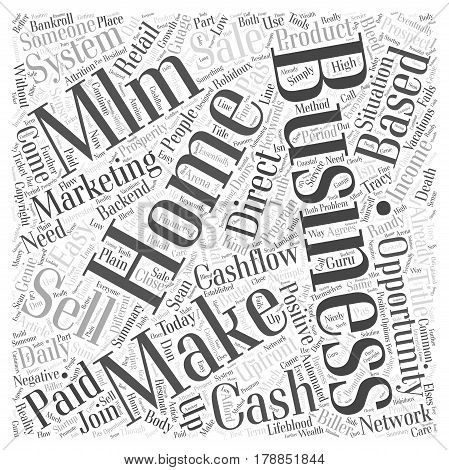Make Easy Daily Cash with a Home Based Business Word Cloud Concept